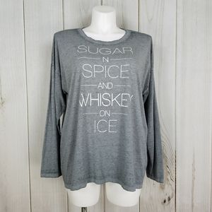 Cato | Sugar and Spice and Whiskey Gray Tee Shirt